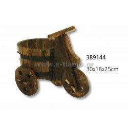 Διακοσμητικό Ξύλινο τρίκυκλο με ξύλινο καλάθι  Διάσταση: 38Χ18Χ25cm