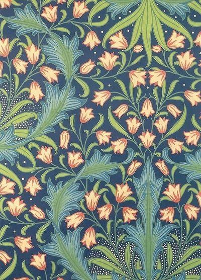 Harebell Pattern . postcard William Morris
