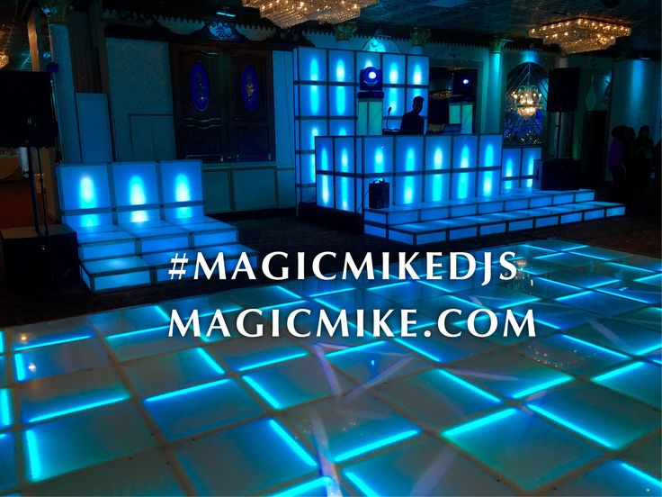 Magic Mike DJs latest LED DJ Booth & Lighted Stages with the Newest LED Dance Floor