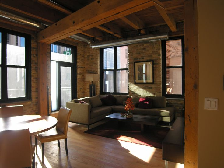 Best Industrial Stuff Images On Pinterest Industrial Style - Contemporary soho loft with exposed brick and wood beams