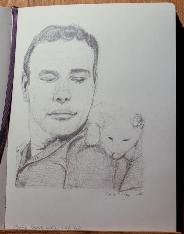 Marlon Brando + White Cat