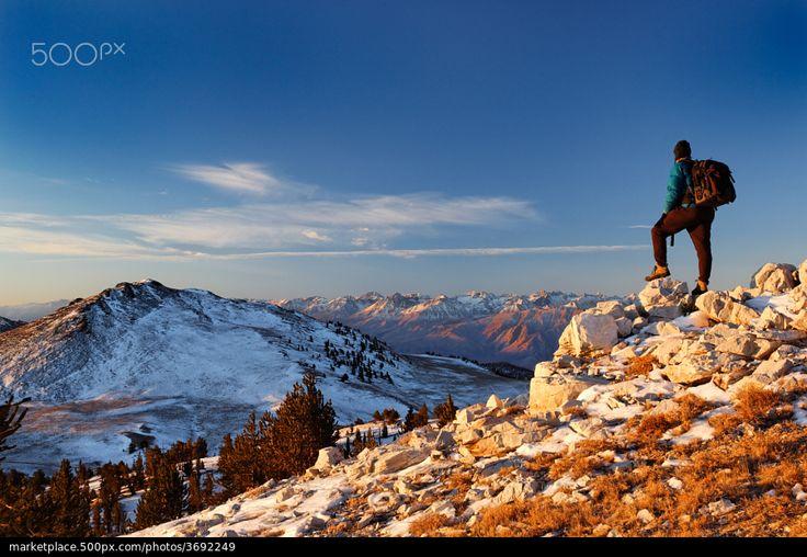 White Mountain Sunrise - stock photo