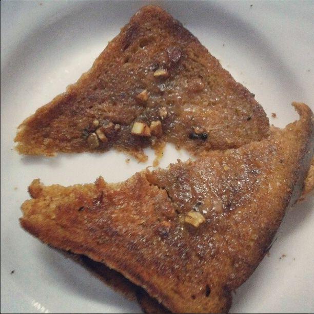 my baby tried - garlic toast