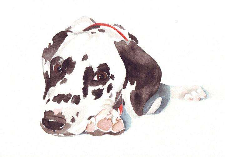 Custom Pet Portrait Painting. via Etsy seller Splodgepodge