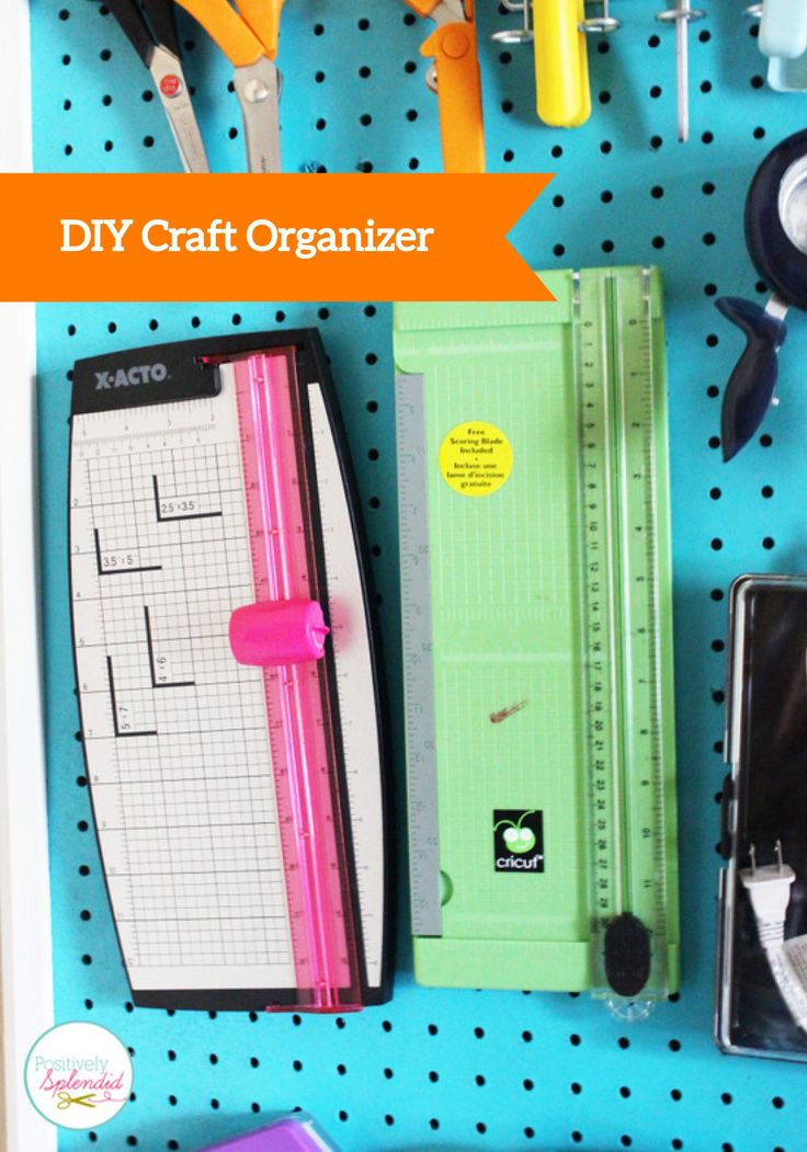 Make your own pegboard craft organizer to hold all of your supplies and tools. You'll never need to search for your crafting things again!