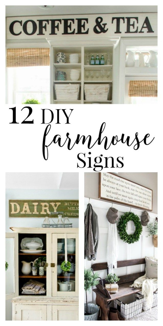 12 amazing DIY farmhouse sign ideas. Are you looking for some inspiration for your next project?   Twelveonmain.com