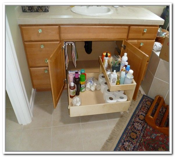 1000 ideas about under sink storage on pinterest under - Bathroom vanity under sink organizer ...
