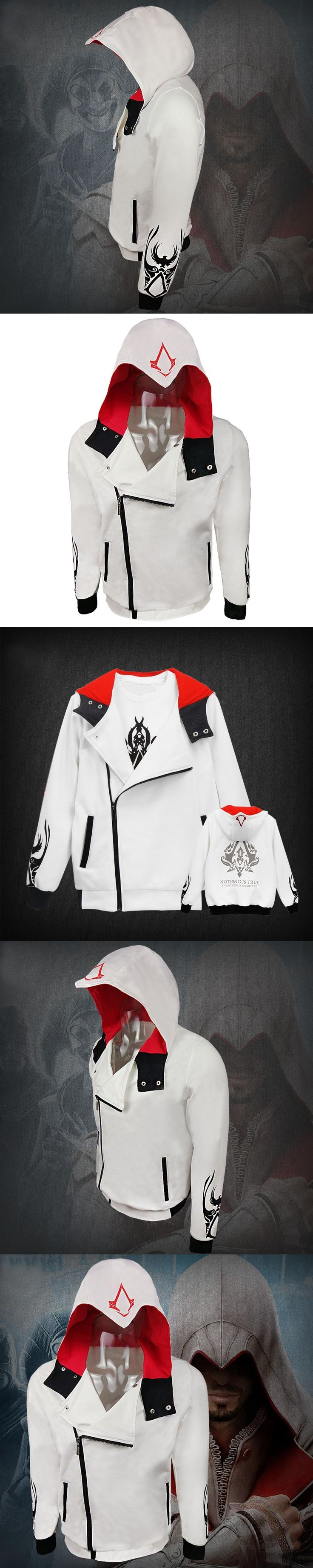 2017 New Arrival Assassins Creed Hoodies Men Sweatshirt Jackets Coat Cardigan Free Shipping