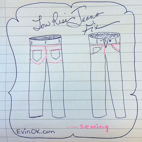 Low rise jeans fix on evinok.com -