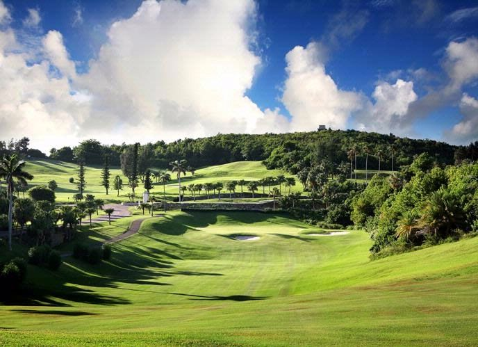 The 5th fairway at Rosewood Tucker's Point, an 18-hole, par-70 Bermuda golf course.