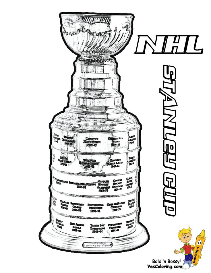 Coloring Nhl Hockey Champions Stanley Cup Tell Other Kids You Found Yescoloring