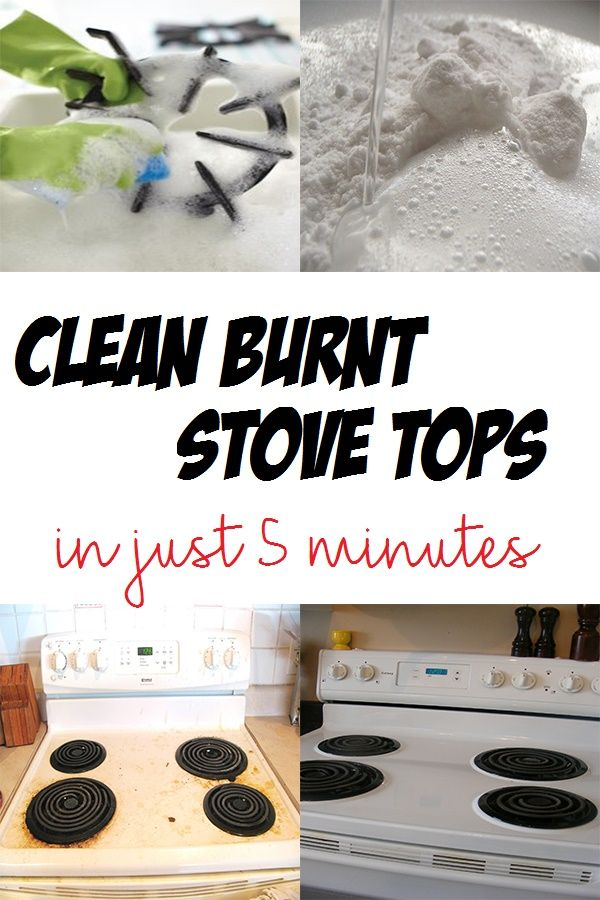 Clean burnt stove tops in just 5 minutes
