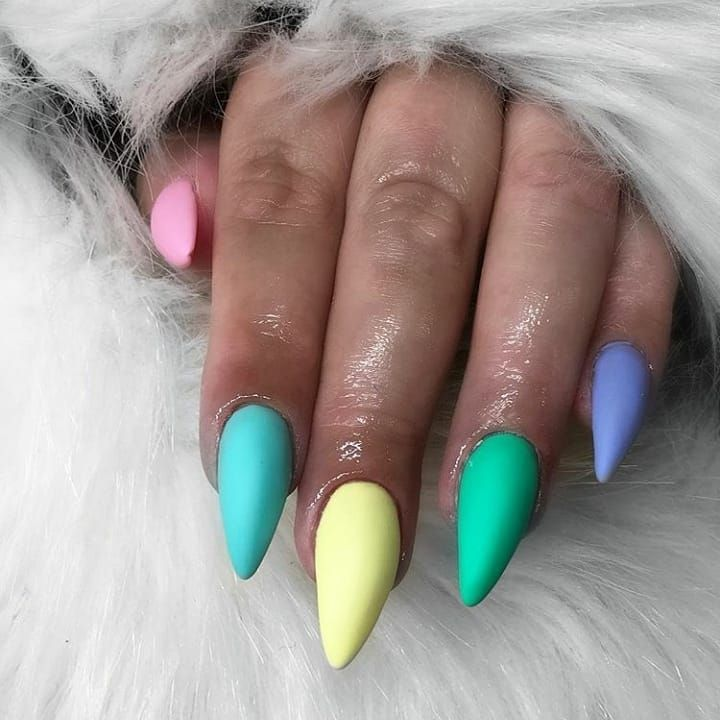 Nails Color Summer Pink Yellow Blue Green Purple Beautiful Amazing Nail Colors Nails Color