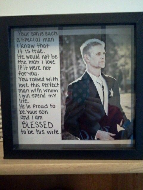 Mothers day gift for mother in law. Use pic of hubby on wedding day.