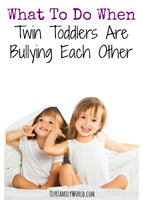 What To Do When Twin Toddlers Are Bullying Each Other: Are your twin toddlers bullying each other? Learn a few easy tactics to turn your babies back into best friends instead of arch nemeses and restore harmony!