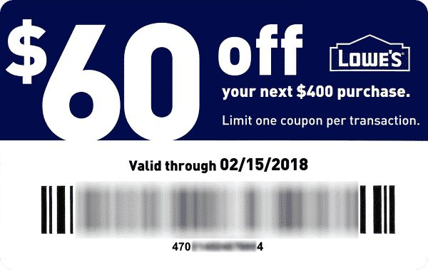 Lowes Coupons $60 Off
