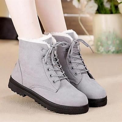 48a9477ed68 Snow boots 2018 classic heels suede women winter boots warm fur plush  Insole ankle boots women