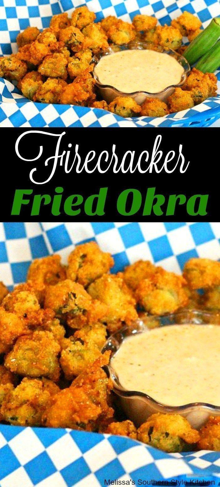 Firecracker Fried Okra Okra Okrarecipes Friedokra Recipes Food Southernfood Southernstyle Vegetaria Okra Recipes Food Network Recipes Appetizer Recipes