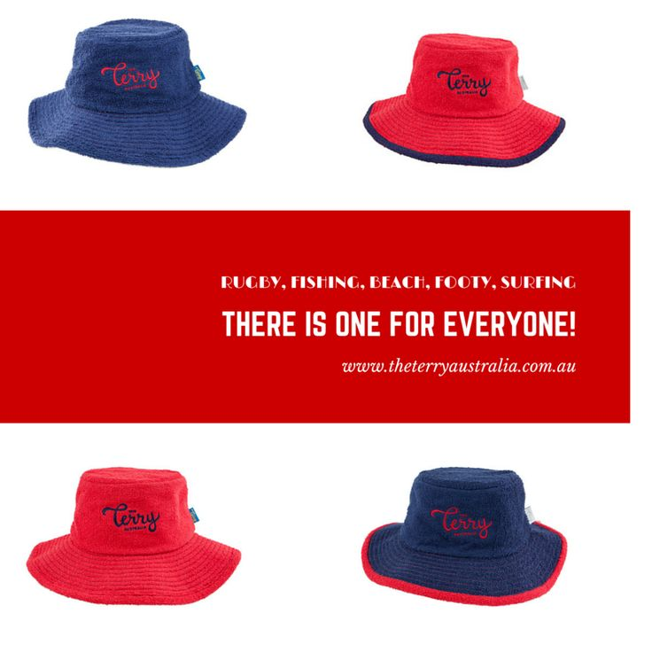 Red & Navy Terry's are great classic coloured hats to go with all outfits!