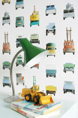 New Studio Ditte Wallpaper | Work Vehicles | JUST KIDS WALLPAPER™