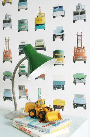 New Studio Ditte Wallpaper | Work Vehicles | JUST KIDS WALLPAPER™