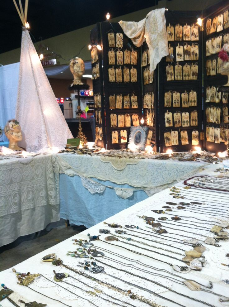 The Tangled Nest Heist Jewelry Our Boho Booth Space Decor Table Decorations Arts Crafts