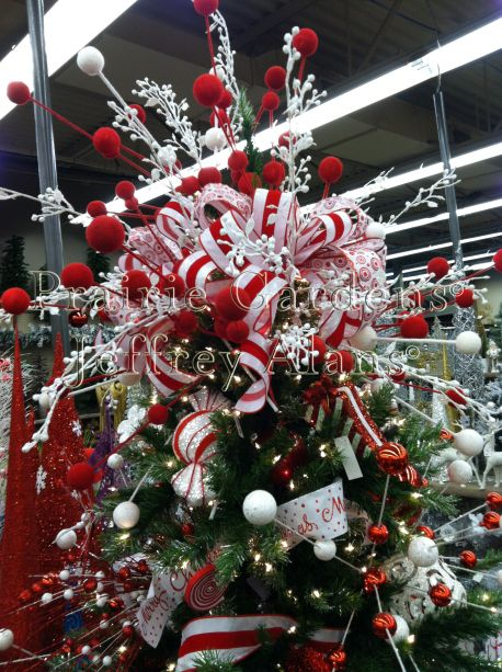 1866 best xmas images on pinterest peppermint twist tree topper publicscrutiny Image collections
