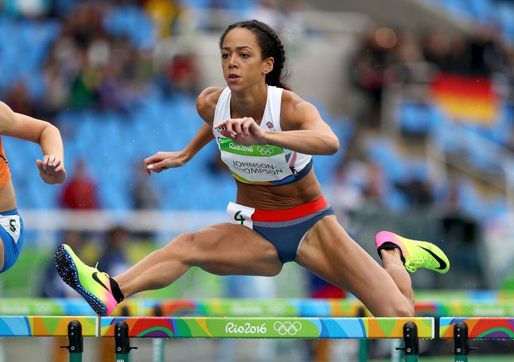 Katarina Johnson-Thompson Photos - Katarina Johnson-Thompson of Great Britain competes in the Women's Heptathlon 100 Meter Hurdles on Day 7 of the Rio 2016 Olympic Games at the Olympic Stadium on August 12, 2016 in Rio de Janeiro, Brazil. - Athletics - Olympics: Day 7 #Rio2016 #リオ五輪