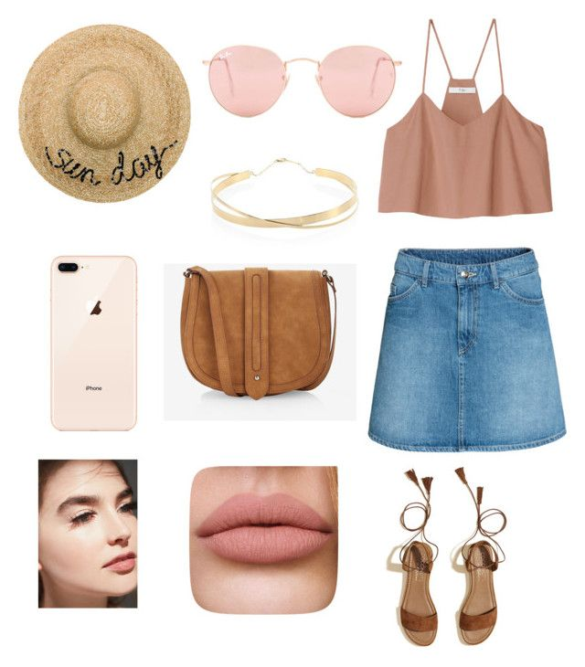"""""""Untitled #2"""" by cande-monier on Polyvore featuring Ray-Ban, TIBI, H&M, Hollister Co., Eugenia Kim, Lana Jewelry and Express"""