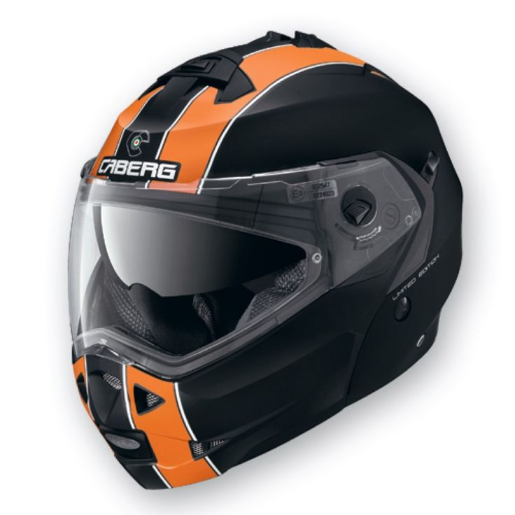 Caberg Duke helmet, Legend Design in Black/Orange at BargainBikerBrands.com