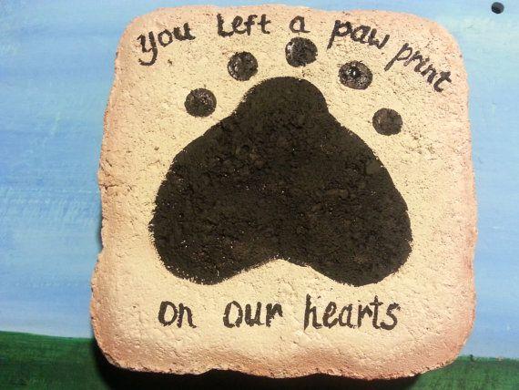 Pet dog cat Memorial  stone grave marker burial site by kpdreams, $18.00