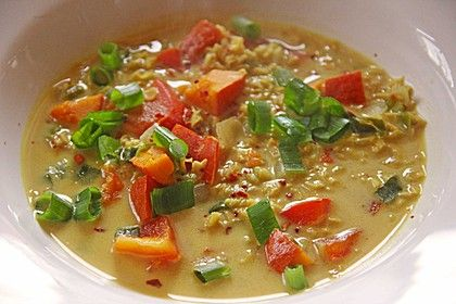 Kürbis - Kokos - Suppe mit roten Linsen, ein tolles Rezept aus der Kategorie Kochen. Bewertungen: 250. Durchschnitt: Ø 4,5.