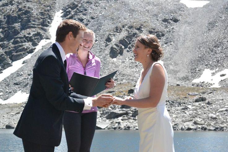 Groom Casey and Bride Amy. Queenstown mountain wedding at Lake Alta, The Remarkables. #mountainwedding #queenstownwedding #newzealandwedding #marriagecelebrant #weddingceremony #brideandgroom #adventurewedding #yourbigdayqt #realwedding #lovemyjob