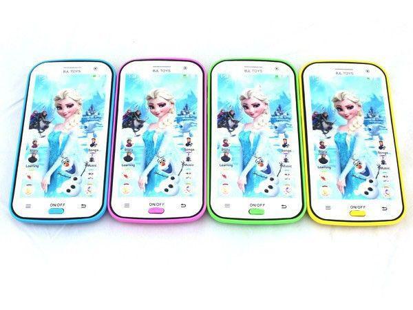 Elsa anna giocattolo del bambino telefono mobile snow queen elsa anna inglese  Macchina di apprendimento del proiettore giocattolo regali di natale per i bambini 1 pezzo # f