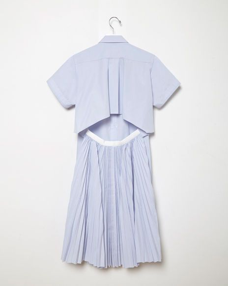 SACAI   Pleated Back Shirtdress   Shop at La Garçonne