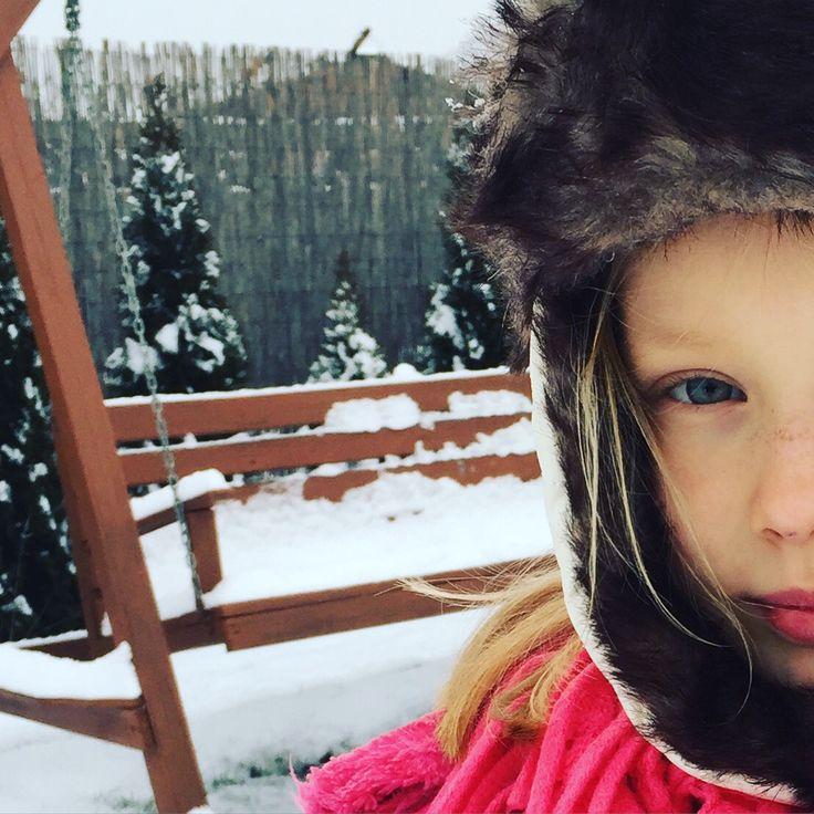 futrzana czapka na mrozy ❄️☃#kids #motherandbaby #love #girl #snow