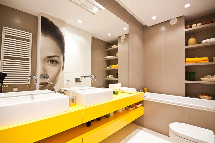Bathroom with yellow accent :)