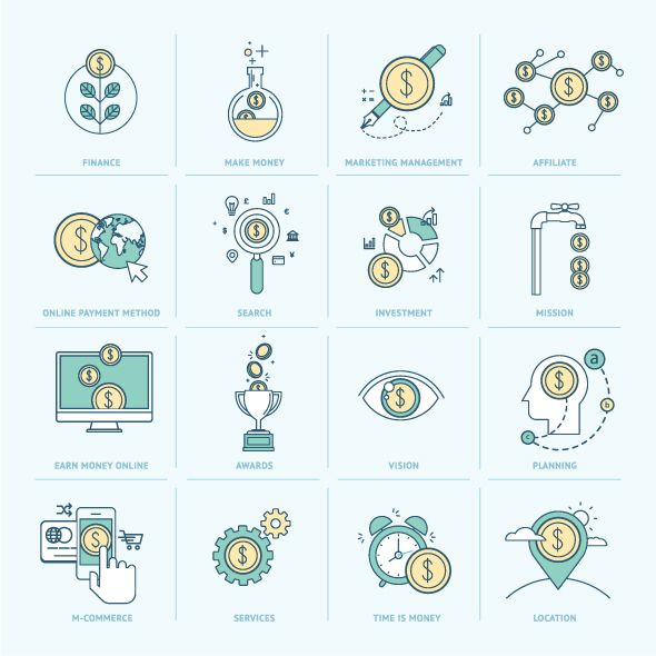 Set of Flat Line Icons on Behance