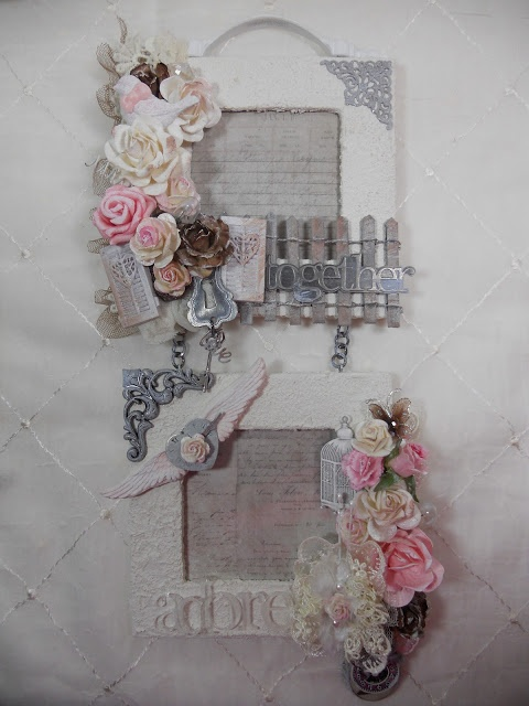 Altered picture frame, shabby chic, craft idea  @ http://faythbydesign.blogspot.ca/2012/11/dt-project-for-thepiecebypiece.html