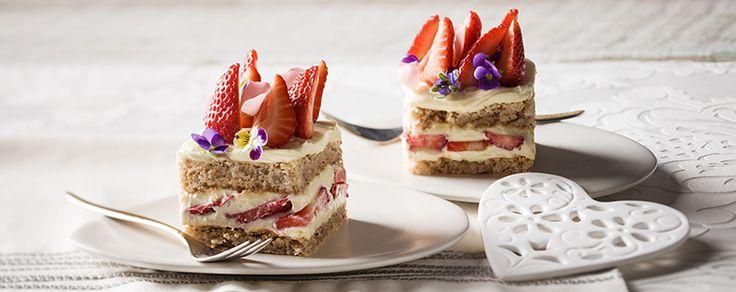 Strawberry Pistachio Rosewater Layer Cake