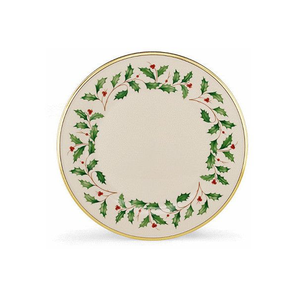 Lenoxx Lenox Holiday Dinnerware Dinner Plate ($139) ❤ liked on Polyvore featuring home, kitchen & dining, dinnerware, beige, service plate, off white dinner plates, rimmed dinner plates, cream dinner plates and dinner set