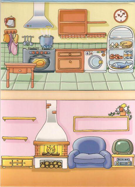 Partes de la casa cocina y salón
