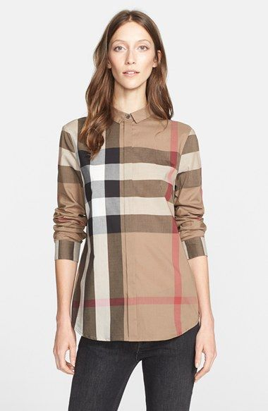 Burberry Brit Check Pattern Cotton Shirt available at #Nordstrom
