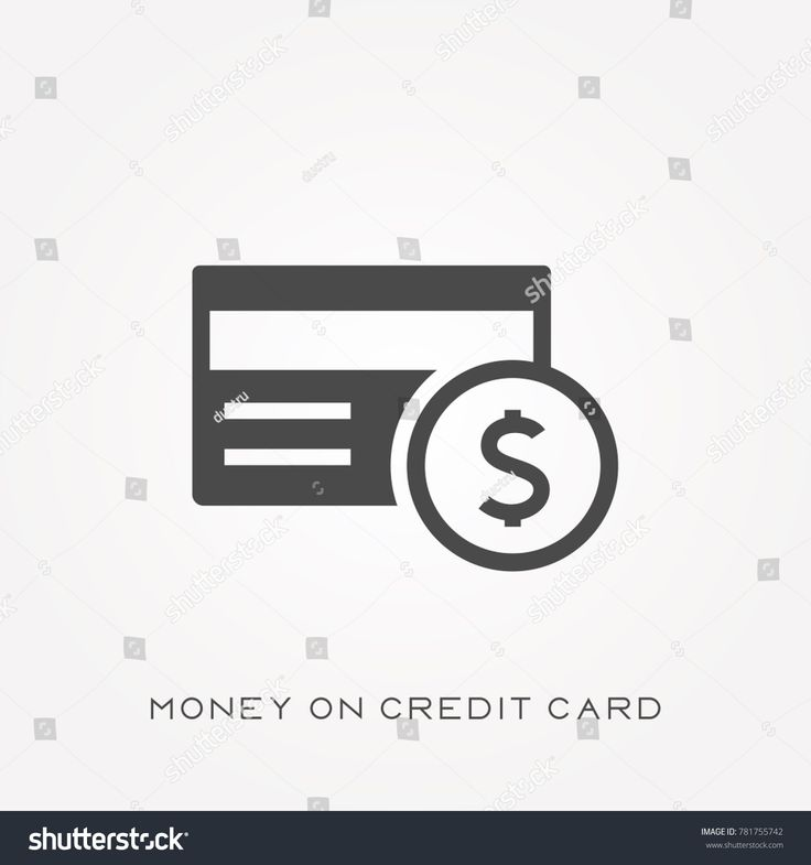 silhouette icon money on credit card ad  aff icon