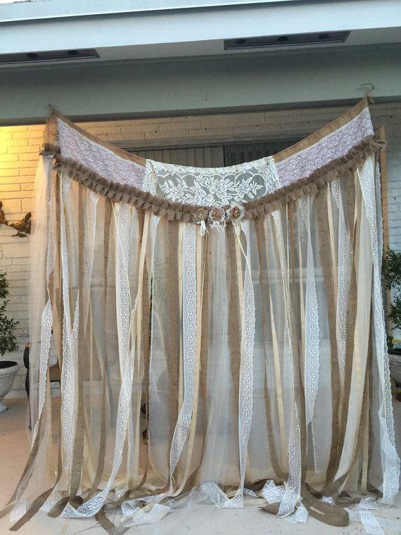Las 25 mejores ideas sobre cortinas de arpillera en - Telas para cortinas de salon ...