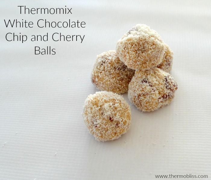 Thermomix White Chocolate Chip and Cherry Balls