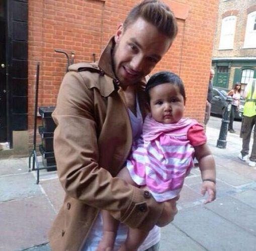 Liam Payne Holding Baby 1