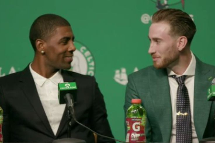7 moments that defined Kyrie Irving and Gordon Hayward's Celtics press conference