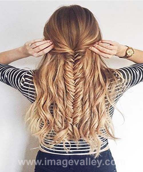 thick medium haircuts best 25 fishtail updo ideas only on wedding 4995