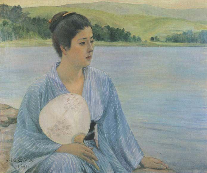 Kuroda Seiki, Lakeside, 1897